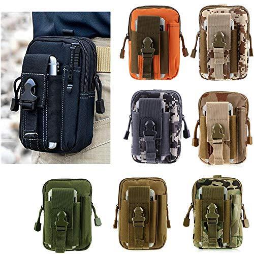 JUNbao-LINyiming-01 Tactical Molle-Tasche Compact EDC Utility Gadget Gürteltasche mit Handy Halter für iPhone 6/6S/7/7 Plus/8/8 Plus