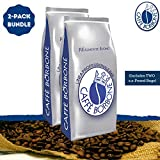 Caffe Borbone Beans (Blue) - Whole Bean Coffee 2-Pack Bundle (Includes TWO 2.2-Pound Bags)