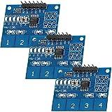 AZDelivery 3 x TTP224 Panel capacitivo de 4 canales con sensor táctil digital para Arduino y Raspberry Pi con eBook incluido
