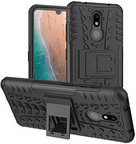 Soezit Shockproof Hybrid Kickstand Back Cover Defender Cover For Nokia 3.2 – Black