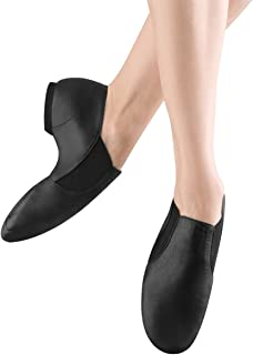 Bloch Dance Girl's Elasta Bootie Leather and Elastic Split Sole Jazz Shoe