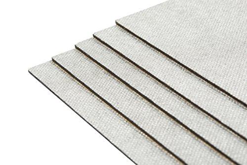 10 Stück Bitumenmatte, Antidröhnmatte, Dämmmatte Selbstklebend 500x200x2,0mm / Alulook