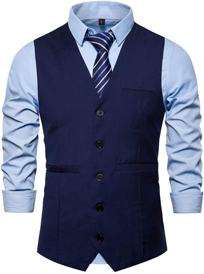 shipfree Max 50% OFF YFQHDD Men Suit Smart Casual Vintage Sleeveless Formal Waistcoat