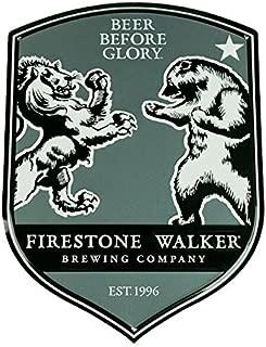 Firestone Walker Brewing Company - Lion Vs. Bear Metal Bar Sign - Fw Tacker