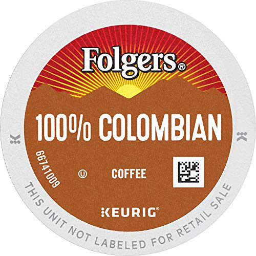 Folgers 100% Colombian Medium Roast Coffee, 96 Keurig K-Cup Pods