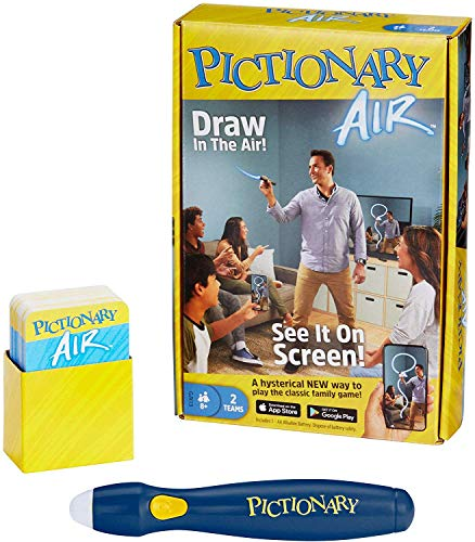 Pictionary Air Drawing Game, Family Game with Light-up Pen and Clue...