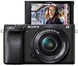 sony alpha 6400l - kit fotocamera digitale mirrorless con obiettivo intercambiabile selp 16-50mm, sensore aps-c, video 4k hdr, s-log2, s-log3 e hlg, ilce6400b + selp1650, nero