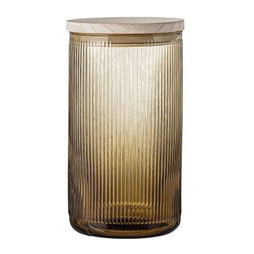 Bloomingville Behälter mit Deckel, braun, Glas