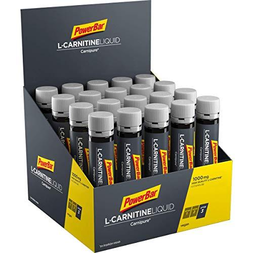 PowerBar L-Carnitine Liquid Ampullen 20x25ml - Nahrungsergänzungsmittel mit 1000 mg L-Carnitin und Vitamin B6