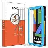 Amazon Brand-Eono [4 Stück] Panzerglas Schutzfolie kompitabel mit Google Pixel 4, mit Positionierhilfe, Anti-Kratzen, Anti-Bläschen