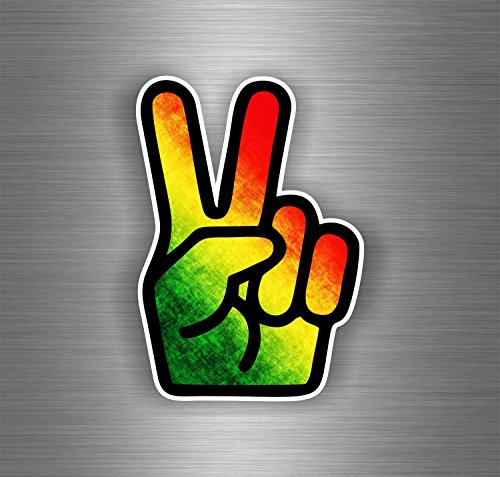 Akachafactory Autocollant Sticker Voiture Rasta Reggae One Love Lion Drapeau Jamaique ref21