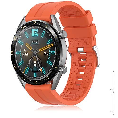 TOPsic Bracelet Huawei GT 2 Bandes de Montres pour Huawei Watch GT/Huawei GT 2 /Huawei Watch GT Active/Galaxy Watch 46mm/Gear S3, Bandes de Silicone de Sport 22mm
