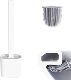 EAR PADZ Revolutionary Silicone Flex Toilet Brush, With Holder, Deep Cleaner Bathroom Toilet Brush and Quick Drying Holder...