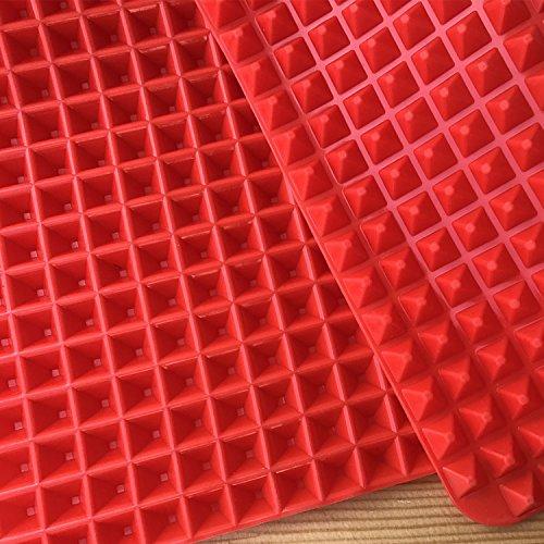 Antihaft-Silikon-Grill-Pyramiden-Pyramiden-Pfanne, fettreduzierend, zum Backen, Grillen, Grillen, Ölfilter-Pad, 3 Stück