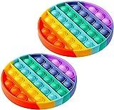 FOHYLOY Push Pop Bubble Sensor Fidget Toy, Alivio del estrés Necesidades Especiales Aula silenciosa...