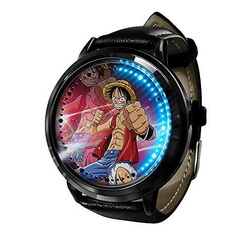 Armbanduhren Anime One Piece Led Uhr Wasserdichter Touchscreen Digital Light Watch Unisex Armbanduhr Cosplay Requisiten Geschenk Neu-A4