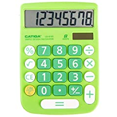 ¥Easy-to-use Design - With a large screen this CATIGA calculator is made for convenient comfortable everyday use. Its tough titled display can even increases visibility from any angle. ¥Large Applied Button - Comfortable and durable buttons make use ...