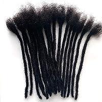 TYOP 20pcsアフリカの汚い編み物、人間の髪、女性の自然な黒い髪、シームレスなヘアエクステンションアクセサリー (Size : 14 inch)