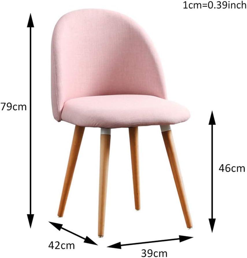 Chaises de salle à manger en bois modernes, salon de coussin de coton préside les meubles robustes de salle à manger (Color : Color A) Color A
