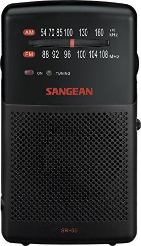 Oferta de Sangean SR35 SR-35 - Radio Analógica FM/AM, Negro