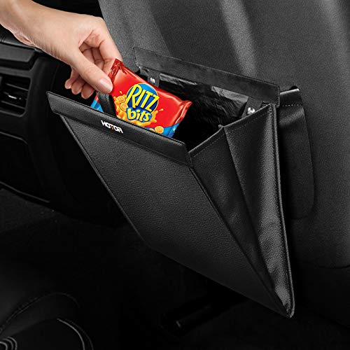 HOTOR Car Trash Can - Small Trash Can for Organizing & Storing, Universal Car Trash Bag with Fashionable Design & Easy