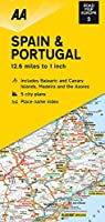 AA Road Map Spain and Portugal (Road Map Europe)