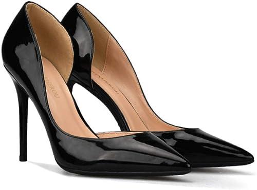 LYWLJG Frauen Stiletto High Heel Spitzschuh Slip-On Pumps für Kleid Hochzeit Abend Büro Schuhe Sandale
