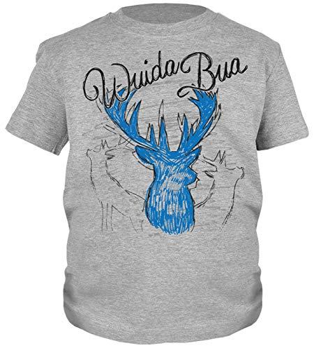 Trachten-Shirt für Jungs Kinder T-Shirt Wuida Bua Motiv Tracht passend zur Lederhose Buben Leiberl