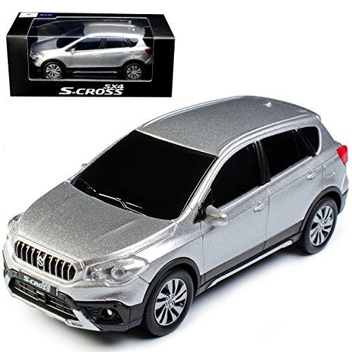 Unbekannt Suzuki S-Cross SX4 Silber 5 Türer 2. Generation ab 2013 1/43 Modellcarsonline Modell Auto
