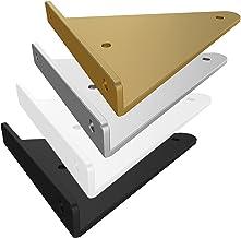 2 stuks onzichtbare plankhouders met montagetoebehoren, DIY metalen plankhouders, Iron Art driehoekig, wanddragers voor wo...