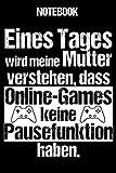 Notebook: Gamer Notizbuch Blanko A5 Lustiger Spruch Für Nerds Und Geeks / Organizer Mit 120 Seiten...
