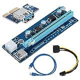 Lanceasy 697/5000 80CM USB 3.0 PCI-E Extender Kabel Grafikkarte Motherboard Adapter für Bitcoin Mining