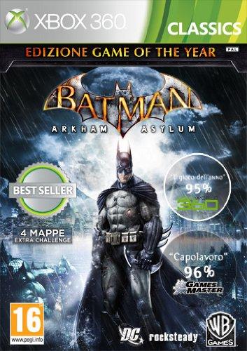 Warner Bros Batman: Arkham Asylum - GOTY Edition, Xbox 360 - Juego (Xbox 360, Xbox 360, Acción / Aventura, Rocksteady Studio, T (Teen), ENG, ITA, Warner Bros.)
