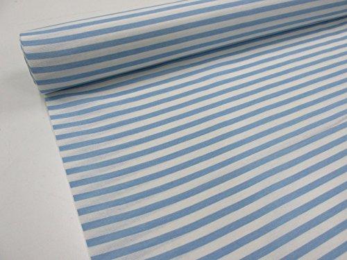 Confección Saymi Metraje 0,50 MTS Tejido loneta Estampada Ref. Rayas Blanco Azul Bebé, con Ancho 2,80 MTS.