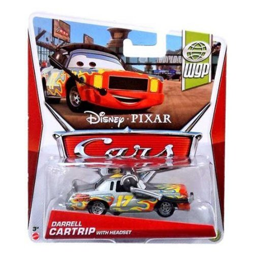 Disney Pixar Cars Darrell Cartrip With Headset (WGP Series, #14 of 17) - Voiture Miniature Echelle 1:55