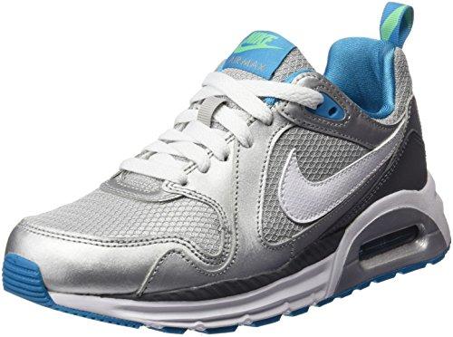 Nike Air Max Trax (GS), Scarpe da Ginnastica Bambina, Grigio/Blu/Verde Elettrico/Nero/Argento Metallizzato (Gris Bl Lgn Elctr Grn Blk Mtllc Slv), 37.5 EU
