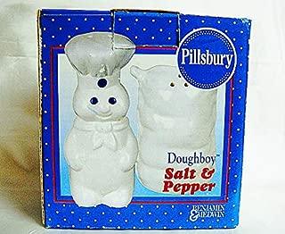 Pillsbury Doughboy and Flower Sack Salt and Pepper Shakers Doughboy 4