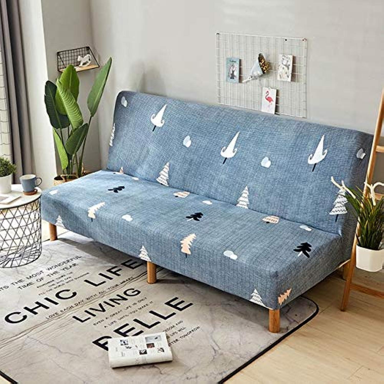 Stretch Sofa Bed Cover No Armrest Folding Sofa Cover Couch Cover Slipcovers for Living Room cubre Sofa canape Salon 160-190cm   color 20, 160-190cm