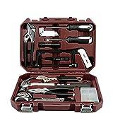 Meijunter Multi Haushalts-Werkzeugkoffer,DIY Reparatur Kits Set,77-teilig, gefüllt, Inkl.Hammer/Schraubendreher/Schraubenschlüssel-Set