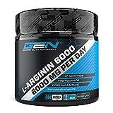 L-Arginina - 380 cápsulas veganas - 6000 mg de L-Arginina HCL vegetal por porción diaria (= 4980 mg de L-Arginina pura) - Aminoácido - Altamente dosificado