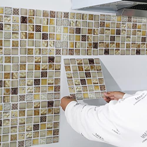 HXSTWW Peel and Stick Backsplash Papel Tapiz, 10-50 Hojas Diseño de mármol Pegatinas de Pared Anti-Aceite Impermeable para el baño de Cocina, 7.9 x 7.9 Pulgadas (Size : 10Pcs)