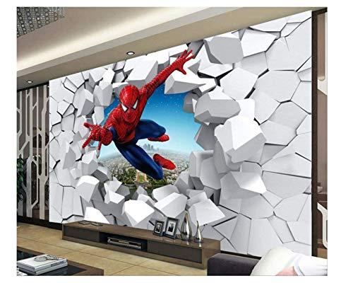 Spiderman Wallpaper Benutzerdefinierte 3D-Fototapete Superheld Wandbild Jungen Schlafzimmer Wohnzimmer Kinderzimmer Designer Raumdekor