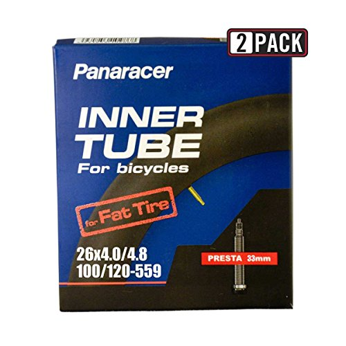 Panaracer 2 Pack 26 x 1.25 / 1.75 Presta (French)-48mm Bicycle Tube