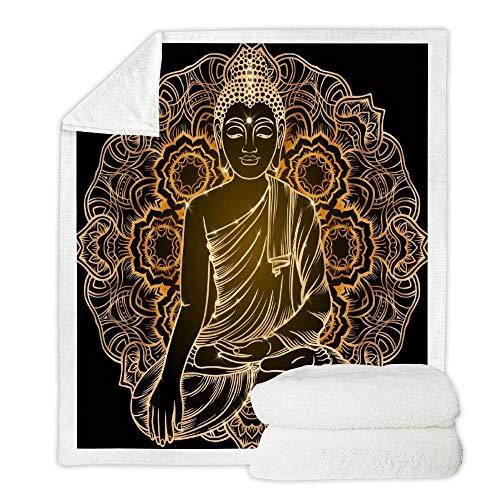 EVEYYBKMT Manta cálida Carzy Estatua de Buda Sofá Manta Regalo de acción de Gracias Guitarra Enojada Manta de Pijama -Estilo 6,150cm * 200cm