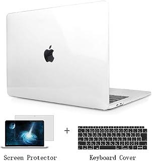 TwoL MacBook Air 13 2018 2019 2020 対応 A1932 A2179 ケース クリア + 液晶保護フィルム + 日本語ーボードカバー 3セット PC 薄型 軽量 マックブック エアー 13.3 インチ Retina...