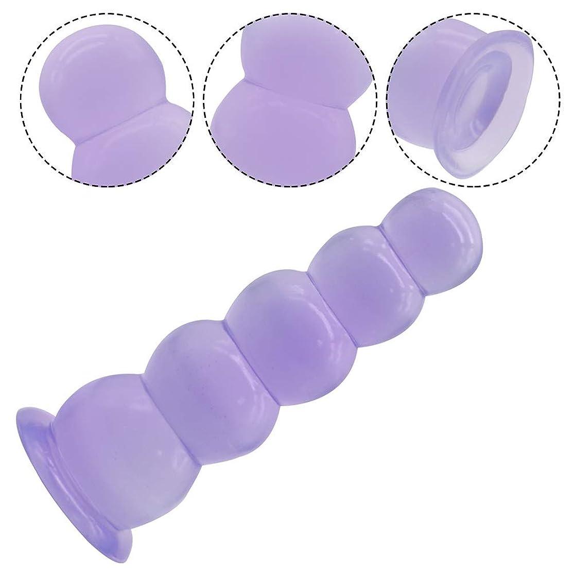 予防接種休眠明らかにする女性のための19 cmビーズ膣ボールシリコン玩具