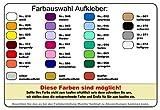 Rügen Aufkleber Insel in 9 Größen und 25 Farben (8,2x10cm hellrot) - 4