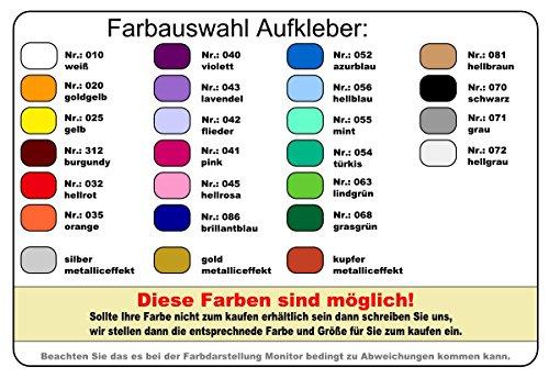Samunshi® Autoaufkleber Golfspieler Aufkleber in 7 Größen und 25 Farben (10x6,5cm silbermetalleffekt) - 4