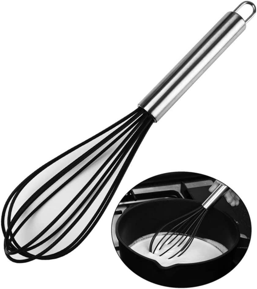 New products, world's highest quality popular! Silicone Kitchen Year-end gift Whisk 10 Inch Very S Egg Beater