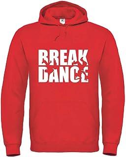 Druckerlebnis24 Sudadera con capucha – Break Dance baile Silhouette – Sudadera unisex para niños – Niño y niña